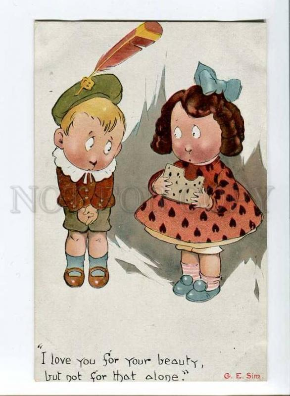 256993 G.E. SIM Charming KIDS Lovers ART DECO old Langsdorff