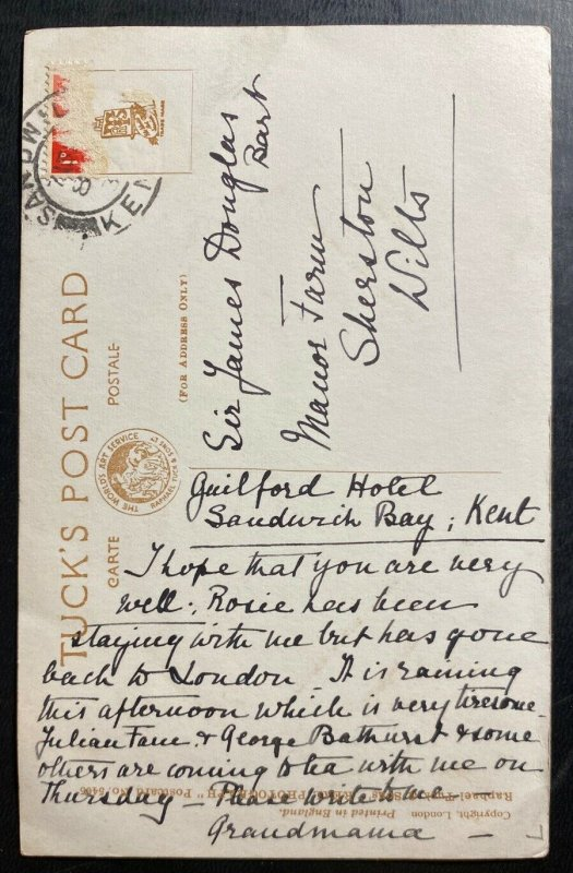 Mint Real Picture Postcard King George VI And Queen Elizabeth