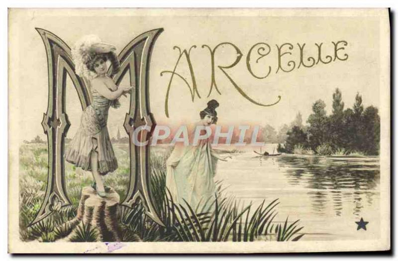 Old Postcard Fancy Marcelle Surname