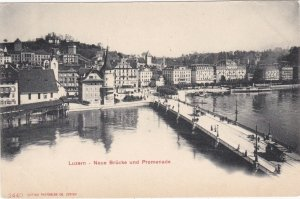 Switzerland Luzern New Bridge and Promenade sk3700