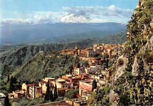 Italy Taromina Panorama da Monte Croce General view Panorama