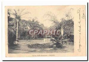 Vietnam Saigon Old Postcard View the botanical garden