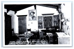 Postcard Death Valley Scotty's Room in his Castle, CA National Monument RPPC D16