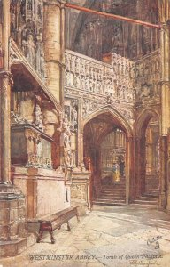 WESTMINSTER ABBEY Tomb of Queen Philippa London, England Oilette Postcard c1910s