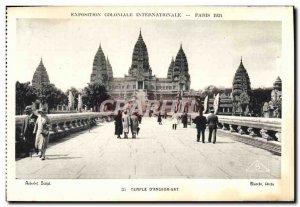 Old Postcard Exposition Coloniale Internationale Paris 1931 Temple of Wat & #...