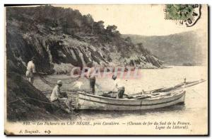 Old Postcard Fishing Fishermen in Cape Negro near Cavaliere Chemion South of ...
