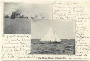The Yacht Race, Oshkosh, Wisconsin, PU-1907