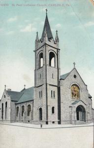 CARLISLE, Pennsylvania, PU-1916; St. Paul Lutheran Church