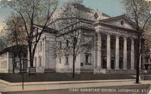 Louisville Kentucky~First Christian Church~1912 Postcard