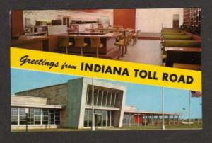 IN Greetings INDIANA Toll Road Postcard PC Glass House