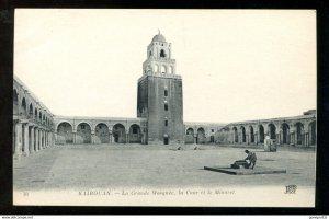171 - KAIROUAN Tunisia 1910s La Grande Mosque, la Cour et le Minaret