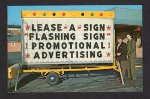 Bill William Lewis Robert Kelley Lease Sign AD postcard