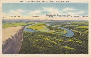See 7 State From Point Lookout Lookout Mountain Tennessee