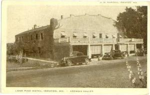 Lone Pine Hotel, Ironton, Missouri, MO, Arcadia Valley,  White border