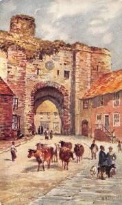 Vintage Postcard Art, The Land Gate, Rye, Sussex by W.H Burrow K35
