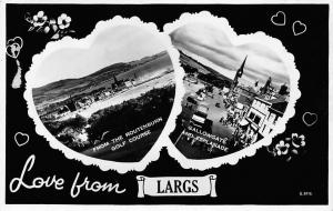 Love from Largs, from the Routenburn Golf Course, Gallowgate, Esplanade, hearts
