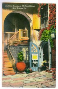 New Orleans, Louisiana to Kansas City, Missouri 1947 PPC, Brulatour Courtyard