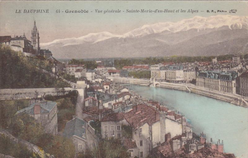 Vue Generale, Sainte-Marie D'En Haut Et Les Alpes, GRENOBLE (Isere), France, ...