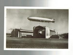 Germany Hindenburg & Graf Zeppelin Flying real picture postcard LZ 127 129