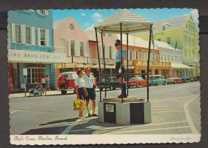 Heyl's Corner With Traffic Policeman, Hamilton, Bermuda - Uunsed