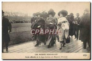 Postcard Old Fashion Female Headdress official of the pants skirt out at the ...