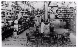 1950s Knotts Berry Farm General Merchandise Interior RPPC Real photo 493