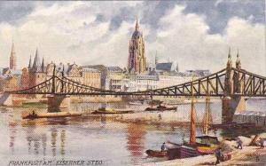 AS, Boats, Bridge, Eiserner Steg., Frankfurt A. Main (Hesse), Germany, 1900-1...
