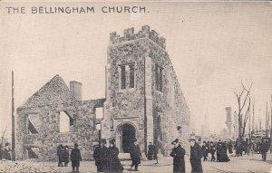 Chelsea MA, Great Fire 1908, near Boston, Bellingham Church, Ruins, Disaster