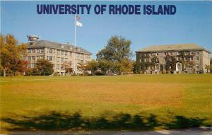 URI University of Rhode Island Quadrangle Kingston RI Postcard