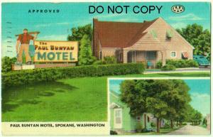 Paul Bunyan Motel, Spokane Wash