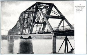 MEMPHIS, Tennessee  TN   BRIDGE Across the MISSISSIPPI RIVER  c1910s  Postcard