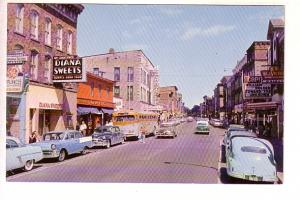Main St, Downtown, Brockville, Ontario, Bryan News, Diana Sweets, Cars, Bus