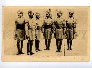 126555 WWI INDIA typical indian troops SOLDIER Vintage PC
