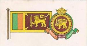 Brooke Bond Tea Trade Card Flags &  Emblems No 7 Ceylon