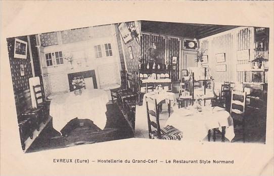 France Evreux Hostellerie du Grand-Cerf Le Restaurant Style Normand