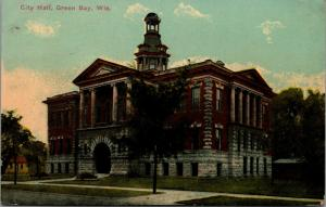 Green Bay Wisconsin~City Hall~Cupola~Razed 1958 for Parking Lot~1913 Postcard
