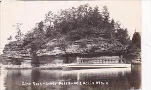 Wisconsin Dells Lone Rock Lower Dells Real Photo RPPC