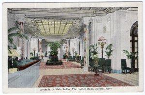 Boston, Mass, Rotunda or Main Lobby, The Copley- Plaza