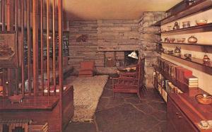 Mill Run Pennsylvania Fallingwater Interior Frank Lloyd Wright Postcard J74481