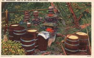 Moonshine Still in the Heart of the Mountains, 1954 Linen Vintage Postcard g9054