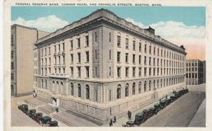 BOSTON, Massachusetts, 1900-10s; Federal Reserve Bank, Coner Pearl & Federal Sts