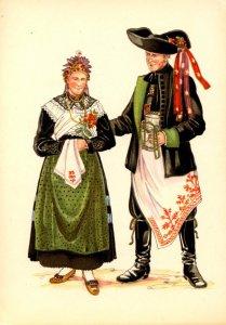 Germany - Bavarian Costumes, #15.  Mistelgau    Artist: Rattelmueller