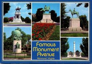 Virginia Richmond Famous Monument Avenue