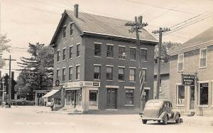 Searsport ME Gas Station Drug Store Barber Shop in 1950  RPPC Postcard