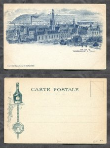 d203 - Fécamp France c1897-1900 Benedictine Monastery. Liquor ADVERTISING