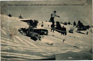 CPA L'Hiver en Savoie Mont-Revard pres AIX-les-BAINS Le Saut en skis (252141)