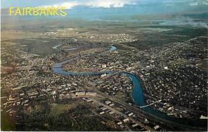 Air view of Fairbanks Alaska AK Pre-zip Code Chrome