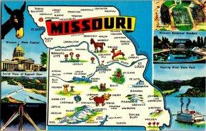 Missouri Map Vintage Multi View Postcard Standard View Card