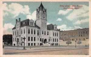 Riley County Court House, Manhattan, Kansas, Early Postcard