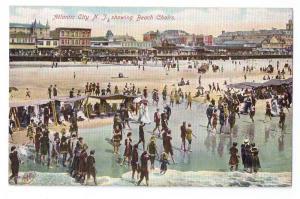 Atlantic City NJ Beach Chairs Vintage 1907 Postcard